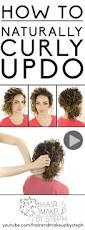 Easy On The Go Hairstyles by How To Naturally Curly Updo Naturally Curly Updo Naturally