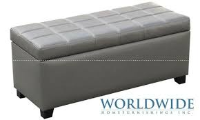 appealing gray storage ottoman dark gray linen modern storage