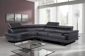 Cosmo Stylist Modern Black Leather Corner Sofa LeftHand - Corner leather sofas