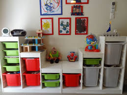 Kids Modern Bedroom Furniture Furniture Green And Red And Gray Storage Bins For Toy Room With