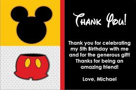 mickey mouse thank you cards mouse thank you card similar to mickey mouse personalized party
