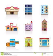 different kind of houses and buildings 2 stock images image