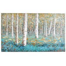 luxe teal birch tree art pier 1 imports