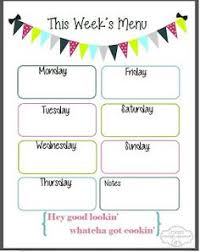 weekly menu templates free what s for dinner 2 fb organization free meal