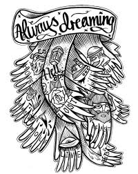 new school tattoo drawings black and white happy tat legs illustrations graffiti designs and webby awards