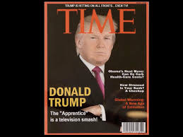 trump has a fake time magazine cover hanging in several of his