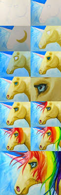 painting with the art sherpa easy how to paint a rainbow unicorn step by step