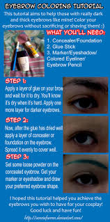How To Shape Eyebrows With Concealer Tutorial Coloring Eyebrows For Cosplay By Averia Avie On Deviantart