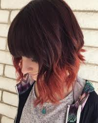 long bob with dipped ends hair 20 dip dye hair ideas delight for all dip dye bob copper red