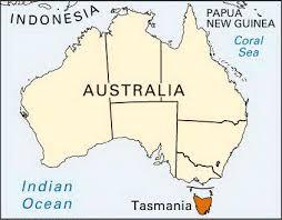 map of tasmania australia tasmania location students britannica homework help