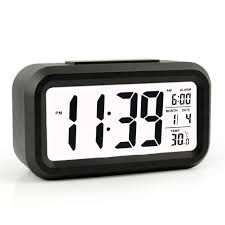 amazon com heqiao led clock slim digital alarm clock large