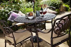 Metal Garden Chairs Hartman Amalfi 4 Seat Round Set In Bronze Hayes Garden World