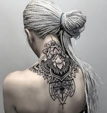 neck tattoo geometric floral pattern best tattoo ideas u0026 designs
