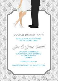 Couple S Shower Invitations Bridal Shower Invitations Couples Wedding Shower Invitations