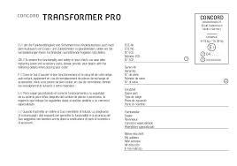 concord si e auto manual montagem e utilização concord transformer pro 2015