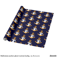 halloween background colors halloween anchor ghost custom background color wrapping paper