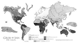 1896 world map of skin color distribution world maps pinterest