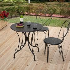 Black Metal Bistro Chairs Popular Wrought Iron Bistro Set Home Interior Ideas Baum