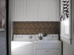 washer and dryer cover ups hang a piece of fun fabric from the bottom of my shelf to behind the