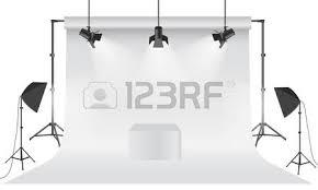 photo backdrop paper empty photo studio realistic 3d white backdrop paper with tripod