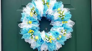 dollar tree easter wreath deco mesh diy crafts