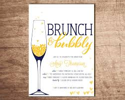 brunch bridal shower invites brunch bubbly bridal shower invitation