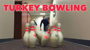turkey bowling thanksgiving office hijinks