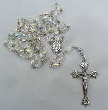 creed rosary large vintage signed creed sterling silver borealis