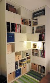 how to build a corner bookcase a made to measure kallax corner bookcase ikea hackers