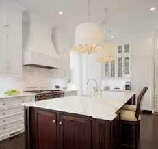 stained island kitchen traditional with white