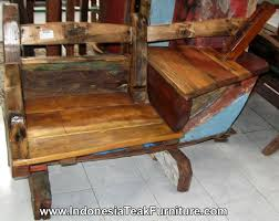 12 antique boat bench from bali