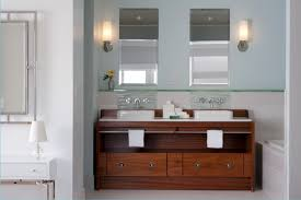 elegant custom bathroom vanity with walnut vanity combined base
