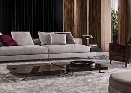 still table by minotti designer rodolfo dordoni frame gold