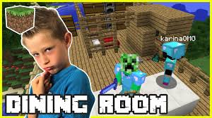 making a dining room with gamer karina omg minecraft youtube
