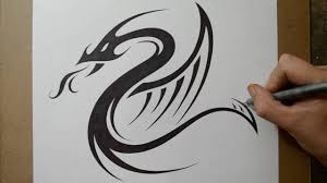 tatoo design tribal designing a tribal dragon serpent tattoo design youtube