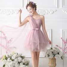 soft pink bridesmaid dresses bare pink soft tulle bridesmaid dress cheap one shoulder