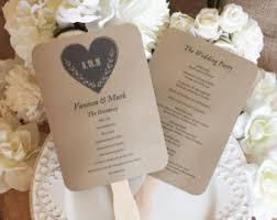 Diy Fan Programs Printable Wedding Program Template Rustic Wedding Fan