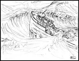 how to draw storm at sea sketch coloring page