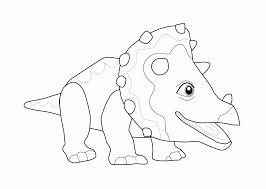 flower dinosaur coloring kids printable dinosaur train
