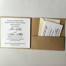 Paper Invitations Craft Paper Wedding Invitations Diy Kraft Paper Wedding