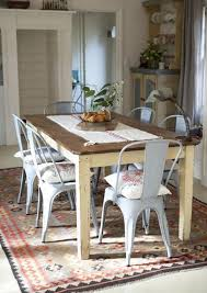 farmhouse table with metal chairs farm table with metal chairs developerpanda