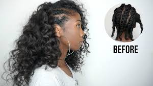 knappy clip in hair extensions side cornrows hairstyle with clip ins no heat minimal leave out
