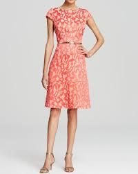 anne klein dress sz 10 coral reef melon cap sleeve a line business