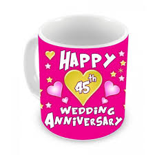 45th wedding anniversary 45th wedding anniversary gift coffee mug