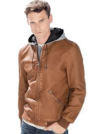 mens leather moto jacket ed jordan men u0027s faux leather motorcycle jacket camel large at