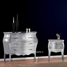 comodini foglia argento comodino con foglia argento vostro 2108 mobili casa idea stile