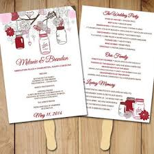 wedding program fan template best wedding program fans products on wanelo