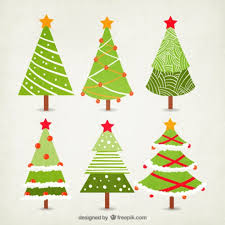 free vector christmas tree christmas lights decoration