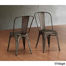 Vintage Bistro Chairs Tabouret Bistro Steel Side Chairs Set Of 2 Chairs