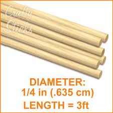 wooden dowel sticks 1 4 inch at crafty sticks